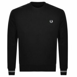 Fred Perry Crew Neck Sweatshirt Black