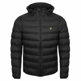 Lyle And Scott Hooded Puffer Jacket Black