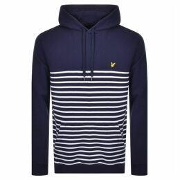 Lyle And Scott Stripe Pullover Hoodie Navy