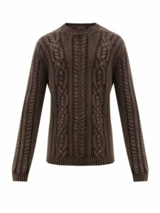 Iris Von Arnim - Owen Cable Knit Cashmere Sweater - Mens - Brown