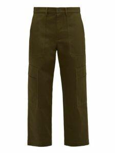 Valentino - Cotton Cargo Trousers - Mens - Khaki