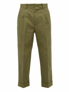 Acne Studios - Pierre Cotton Chino Trousers - Mens - Dark Green