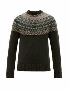 Iris Von Arnim - Halifax Jacquard Cashmere Sweater - Mens - Green Multi