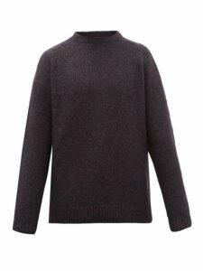 Hope - Compose Slubbed Alpaca Blend Sweater - Mens - Black