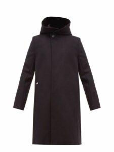 Bless - Hooded Singe Breasted Wool Coat - Mens - Black
