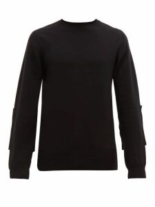 Wardrobe. nyc - Elbow Patch Wool Blend Sweater - Mens - Black