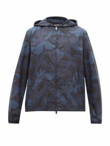 Valentino - Vltn Camouflage Print Windbreaker Jacket - Mens - Blue