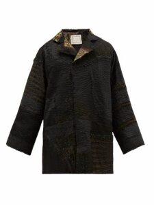 By Walid - Edwin Embellished Victorian Silk Jacket - Mens - Dark Navy