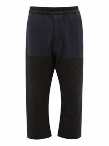 By Walid - Marek Manillar Embroidered Panel Trousers - Mens - Black