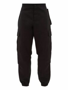 Wardrobe. nyc - Patch Pocket Cotton Cargo Trousers - Mens - Black