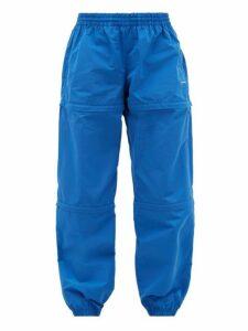 Balenciaga - Zipped Technical Track Pants - Mens - Blue