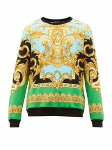 Versace - Baroque Print Cotton Sweatshirt - Mens - Black Multi