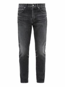 Saint Laurent - Faded Straight Leg Jeans - Mens - Black