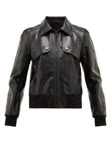 Givenchy - Logo Debossed Leather Jacket - Mens - Black