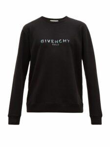 Givenchy - Logo Print Cotton Sweatshirt - Mens - Black