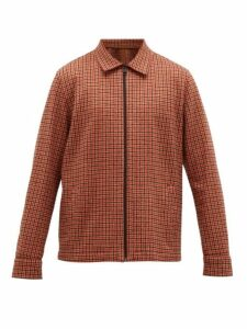 Harris Wharf London - Houndstooth Cotton And Wool Blend Jacket - Mens - Red Multi