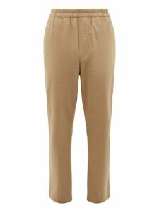 Acne Studios - Paco Drawstring Cotton Blend Trousers - Mens - Beige