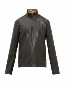 Acne Studios - Ozark Latex Asymmetric Zip Jacket - Mens - Black
