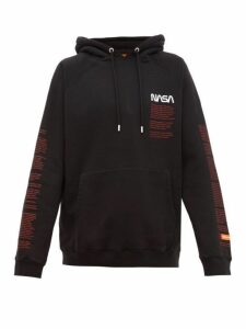 Heron Preston - Nasa Logo Embroidered Cotton Hooded Sweatshirt - Mens - Black Multi