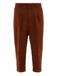 Ami - Dropped Seat Cotton Twill Chinos - Mens - Brown