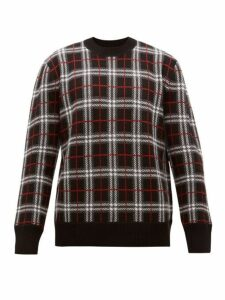Burberry - Fletcher Checked Wool Blend Sweater - Mens - Black