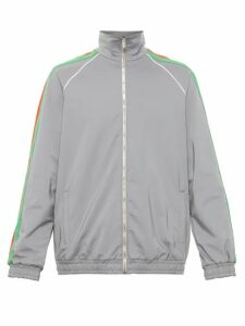 Gucci - Web Stripe Iridescent Shell Track Jacket - Mens - Silver