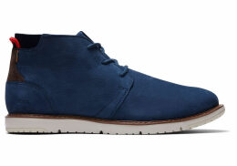 TOMS Navy Suede Leather Men's Navi Boots - Size UK12