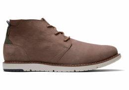 TOMS Cedar Brown Suede Men's Navi Boots - Size UK10