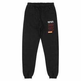 Heron Preston X NASA Black Cotton Sweatpants
