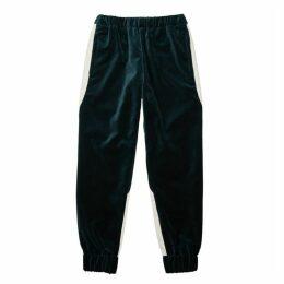 MISTERGENTLEMAN Dark Green Velvet Sweatpants