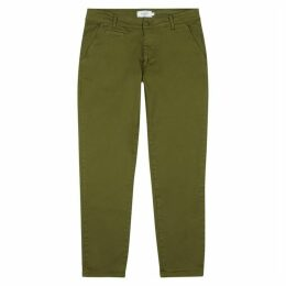 Les Deux Orta Army Green Stretch-cotton Chinos