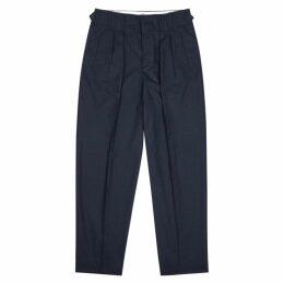 Maison Kitsuné Navy Wool-blend Straight-leg Trousers