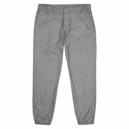 Emporio Armani Grey Fine-knit Trousers