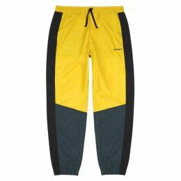 Carhartt WIP Yellow Panelled Shell Sweatpants