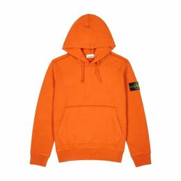Stone Island Orange Hooded Cotton Sweatshirt