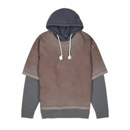 Maison Margiela Hooded Layered Cotton-jersey Sweatshirt