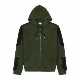 Kenzo Army Green Panelled Cotton Sweatshirt