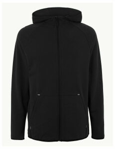 M&S Collection Active Cotton Zip Through Hoodie