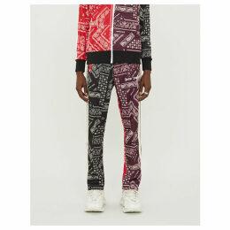 Bandana-print jersey jogging bottoms