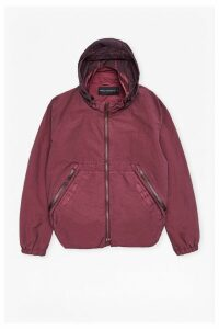 Garment Dyed Ottoman Track Jacket - bordeaux