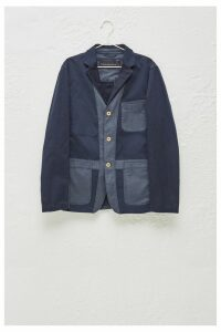 Heavy Stitch Multi-Dye Jacket - marine blue