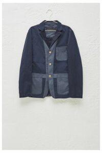 Heavy Stitch Multi-Dye Jacket - marine blue