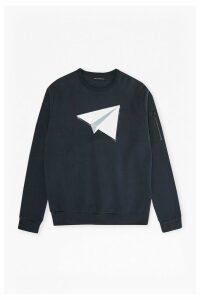 Paper Plane Jersey Sweatshirt - marine blue