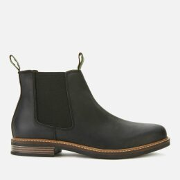Barbour Men's Farsley Leather Chelsea Boots - Black - UK 11
