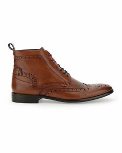 Peter Werth Leather Lace up Brogue Boot