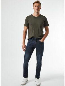 Mens Blue Overdye Blake Slim Fit Jeans, Blue