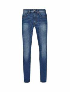 Mens Vintage Blue Tyler Skinny Fit Jeans, Blue