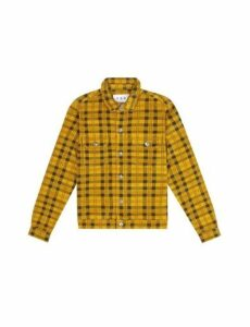 Mens Fōr Harley Yellow Check Cord Jacket*, YELLOW