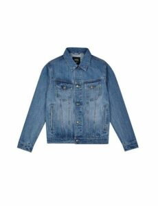 Mens Blue Denim Jacket, Blue
