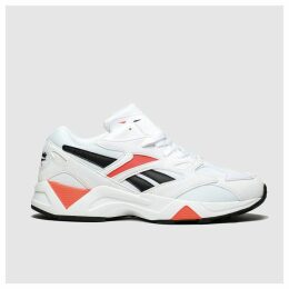 Reebok White & Red Aztrek 96 Reinvented Trainers